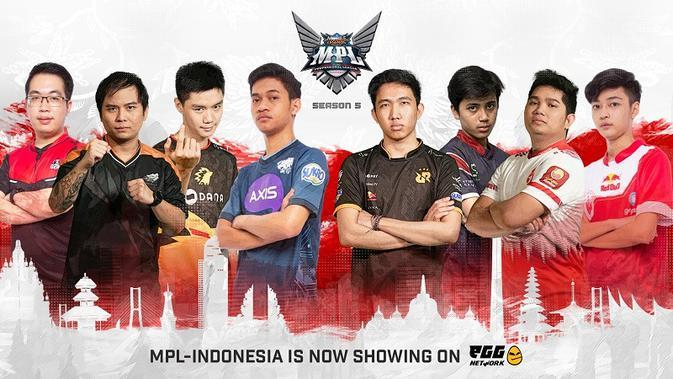 Peserta Mobile Legends Professional League (MPL) Indonesia Season 5. (Dok. MPL ID)