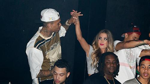 Chris Brown Parties With Blonde, Rihanna Amongst Her Exes