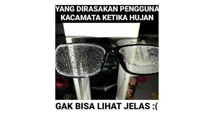 Meme derita orang memakai kacamata (Sumber: Instagram/sejiwatinja)