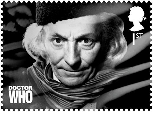 In this image release by the Royal Mail on Wednesday Jan. 3, 2013 shows a postage stamp with an image of the first Dr. Who William Hartnell. Dr. Who _ who usually uses a police box for travel _ will be zooming through time and space on the edge of letters in 2013. Britain's Royal Mail is marking the 50th anniversary of ``Doctor Who,'' the science fiction program, with a series of stamps featuring each of the 11 actors who have played the title role. Those featured include the present doctor, Matt Smith as well as past Time Lords such as David Tennant, Christopher Eccleston and the first doctor William Hartnell . (AP Photo/Royal Mail)