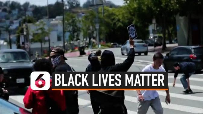 VIDEO: Aksi Puluhan Skateboarder Ramaikan Unjuk Rasa Black Lives Matter
