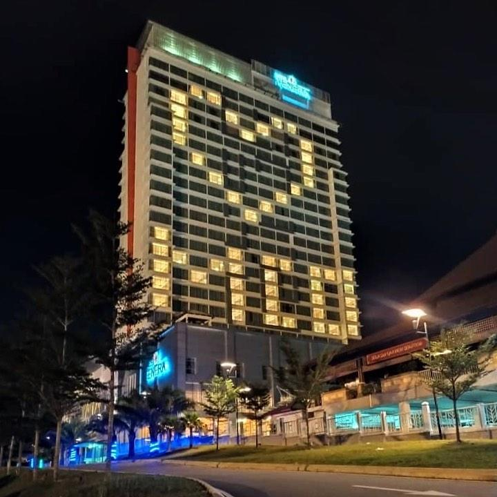 The first message lit up by Hotel Tenera, Bangi. Photo: Instagram / Hotel Tenera Bangi
