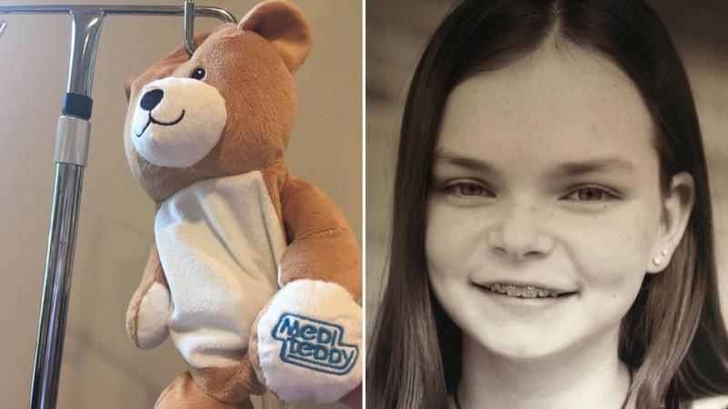 The Medi Teddy (left) and 12-year-old Ella Casano (right)