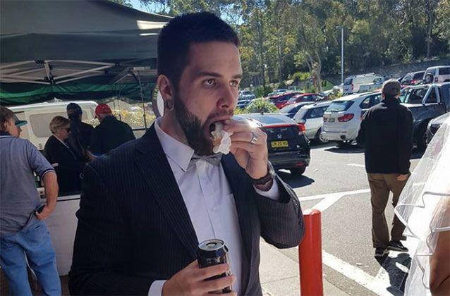 The groom thanked Bunnings Belrose for its 10/10 hospitality. Picture: Jordan Wilson