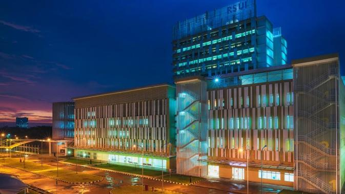 Rumah Sakit Universitas Indonesia (RSUI) yang berlokasi di Depok, Jawa Barat. (Dok Humas RSUI)