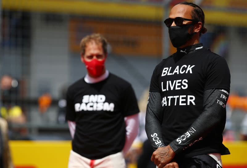 Motor racing: Hamilton wants Ferrari to do more in fight against racism