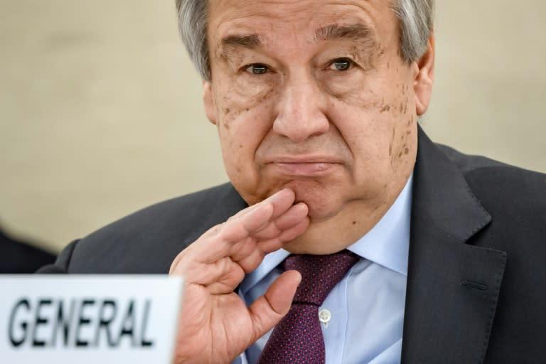 UN chief 'deeply concerned' over Belarus