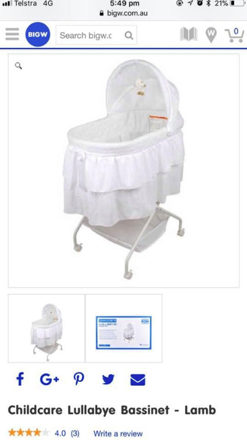 Adelaide mum's baby cut by Big W bassinet mesh