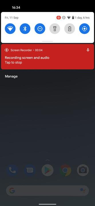 how to screen record in android recording 11 3