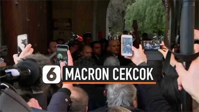 VIDEO: Presiden Prancis Cekcok dengan Petugas Keamanan Israel