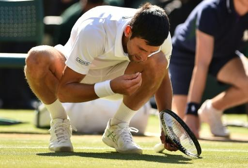 Tasty: Novak Djokovic eats some grass from the court