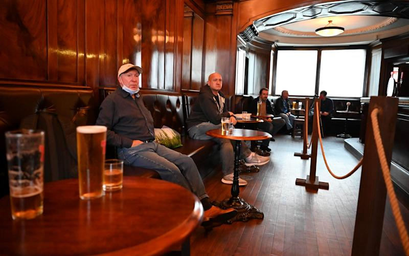 The ban was introduced in response to an outbreak linked to pubs in Aberdeen - Jeff Mitchell/Getty