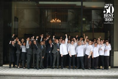 Les Amis in Singapore is the 2020 winner of the Gin Mare Art of Hospitality Award. Determined by Asia's 50 Best Restaurants voting Academy, the Gin Mare Art of Hospitality Award recognises a restaurant that demonstrates outstanding service and exceptional hospitality.