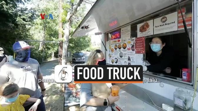 VIDEO: Terpukul Pandemi Corona, Ini Siasat Pemilik Food Truck