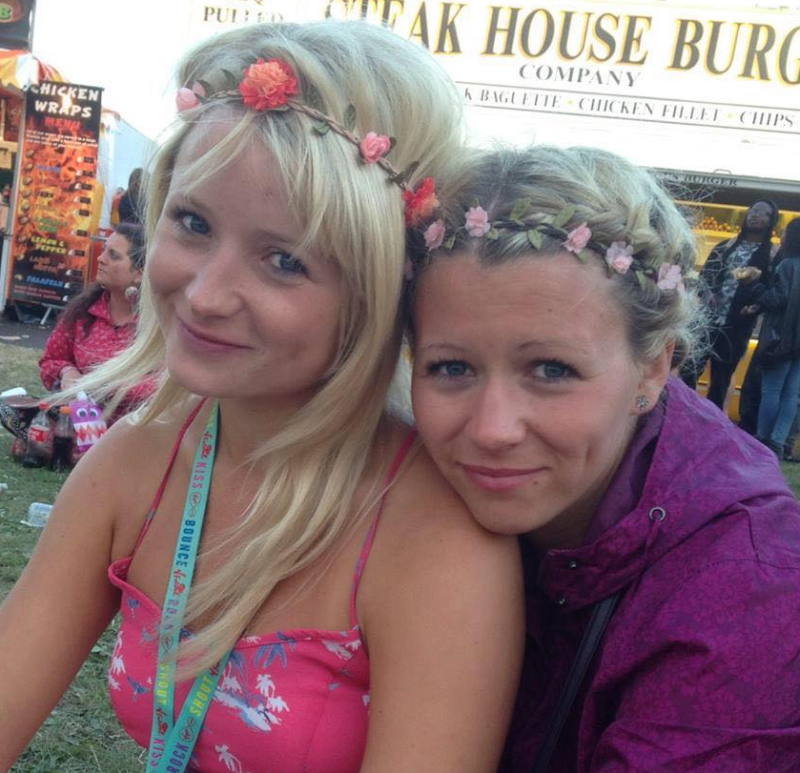 Laura Daniels (right) pictured with her sister Hannah Witheridge in the UK.