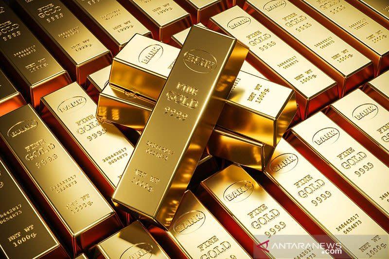 Harga emas terangkat pelemahan dolar setelah ECB pertahankan kebijakan