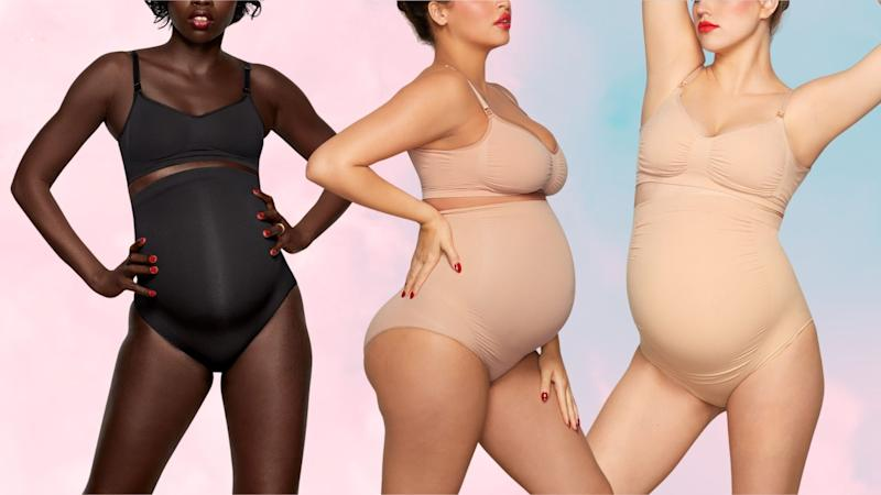 Why one new mom wishes she had Kim Kardashian's maternity line of shapewear during her pregnancy. Images via Skims.