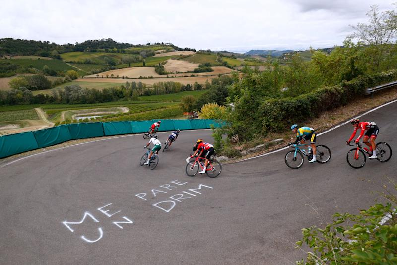 The break on the first lap at the World Championships in Imola, Italy