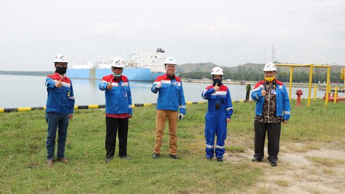 Kepala BPH Migas, M. Fanshurullah Asa dan Tim berkunjung ke PT. Perta Arun Gas (PAG) di Lhokseumawe, Aceh (29/06/2020). (Dok BPH Migas)