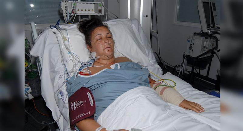 Janika Cartwright (pictured) in hospital