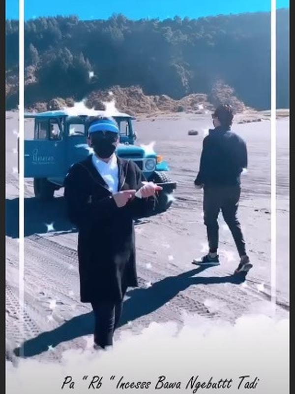 Liburan Syahrini dan Reino Barack ke Bromo (Sumber: Instagram/princessyahrini)
