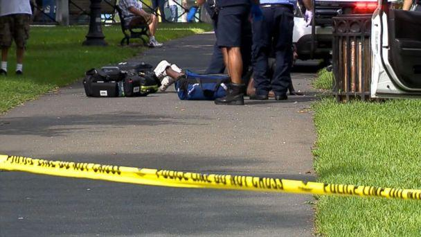PHOTO: Authorities found more than two dozen people suffering from apparent overdoses at the New Haven Green in New Haven, Connecticut, Aug. 15, 2018. (WTNH)