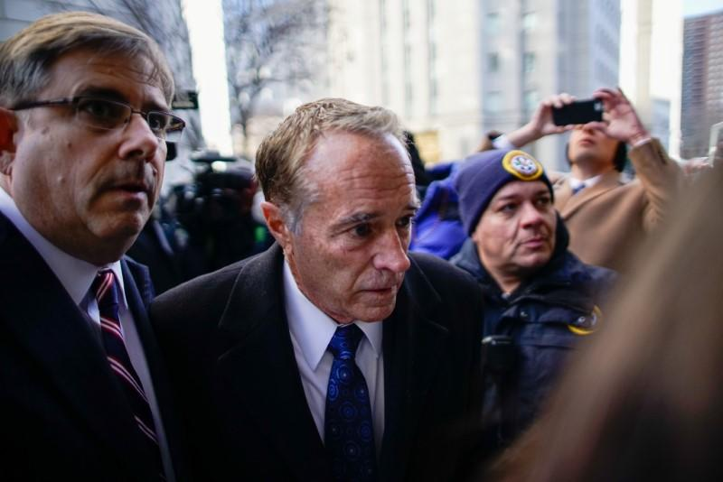 Collins, former U.S. Representative for New York's 27th congressional district arrives to New York Federal Court for his sentence in the Manhattan borough of New York City, New York