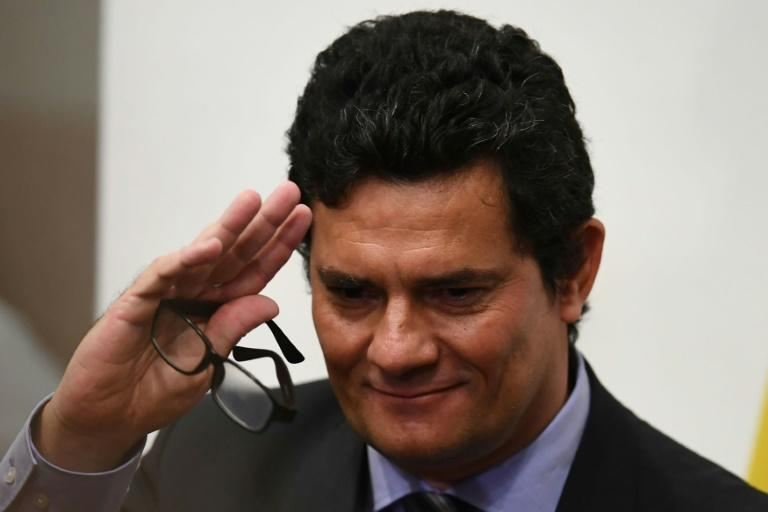 Sergio Moro is seen on April 24 in Brasilia