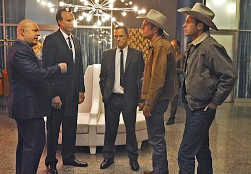 Michael Chiklis as Vincent Savino and Dennis Quaid (second from right) as Ralph Lamb in 'Vegas' coming to CBS on Tuesdays at 10 in Fall 2012 -- CBS