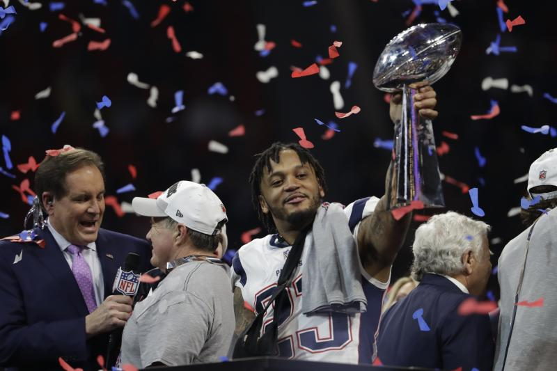f7b3613fc64 Patriots safety Patrick Chung is expected to be back for training camp  after breaking his forearm in the Super Bowl. (AP Photo Jeff Roberson)