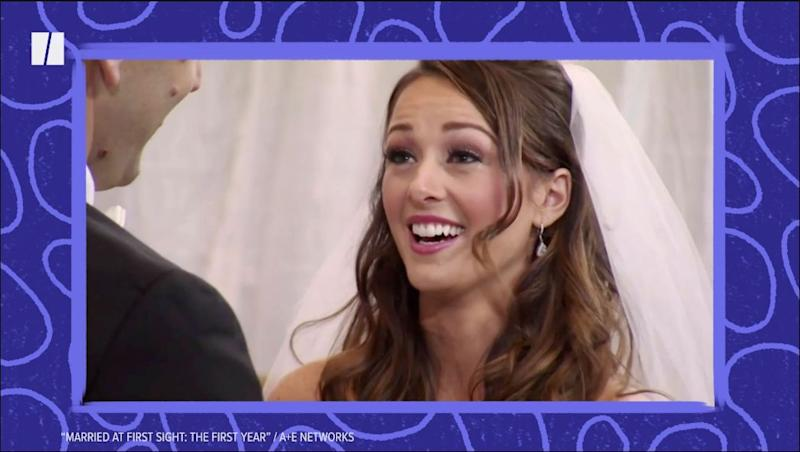 """""""When you hide it and you hold it inside, you're so weighed down by it that it really does still affect you,"""" said Jamie Otis of A&E's """"Married At First Sight"""" on how therapy helped her. (A&E Networks)"""