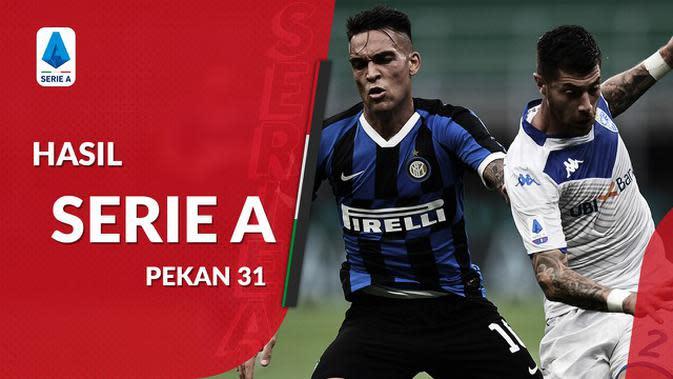 MOTION GRAFIS: Hasil Serie A Pekan 31, Atalanta Geser Inter Milan