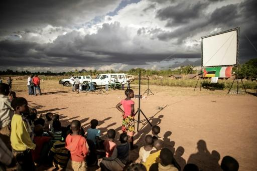 In the Mozambique village of Alua residents watched the World Cup and were given health advice too