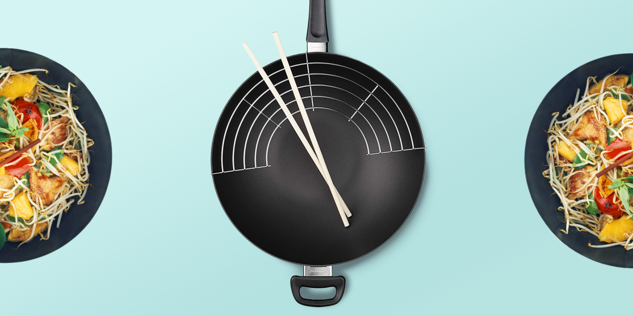 """<p>Woks date back 2,000 years to the Han Dynasty in China. The word """"wok"""" means """"cooking pot"""" in Chinese, and the <a href=""""https://www.goodhousekeeping.com/cooking-tools/cookware-reviews/g799/best-picks-nonstick-cookware/"""" target=""""_blank"""">pans</a> are used for a variety of cooking tasks. While woks are best associated with making <a href=""""https://www.goodhousekeeping.com/food-recipes/easy/a47684/sesame-chicken-stir-fry-recipe/"""" target=""""_blank"""">stir-fries</a> in the U.S., any food that benefits from a centralized heat source and large, consistent cooking area can (and should!) be cooked in a wok. That means woks used for braising, making <a href=""""https://www.goodhousekeeping.com/food-recipes/easy/a19303/tomato-sauce-recipe/"""" target=""""_blank"""">sauces</a>, <a href=""""https://www.goodhousekeeping.com/easy-soup-recipes/"""" target=""""_blank"""">soups</a>, <a href=""""https://www.goodhousekeeping.com/appliances/g20719709/best-deep-fryers/"""" target=""""_blank"""">deep frying</a>, steaming and more. </p><p>Woks traditionally have rounded bottoms and very smooth, rounded edges, perfect for heating quickly and evenly over a small flame. They typically have long handles that allow them to be shaken during cooking, sometimes eliminating the need to stir at all. Some contemporary styles come with lids which help with steaming and gently finishing food.<br></p><p>The experts in the <a href=""""https://www.goodhousekeeping.com/institute/about-the-institute/a19748212/good-housekeeping-institute-product-reviews/"""" target=""""_blank"""">Good Housekeeping Institute</a> Kitchen Appliances Lab rounded up the best woks based on user reviews, our favorite brands, and our categorical expertise on cooking tools. We chose an assorted variety to catering to every type of chef, from the novice home cook to the professional. Our favorite woks are easy to clean and feature flat bottoms so they can be used on the average home stove. Here are <strong>our picks for the best woks:</strong></p><ul><li><strong>Best Overall Wok:</str"""