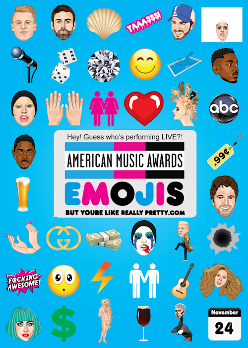 The 2013 AMA Nominees: Now in Emoji Form!
