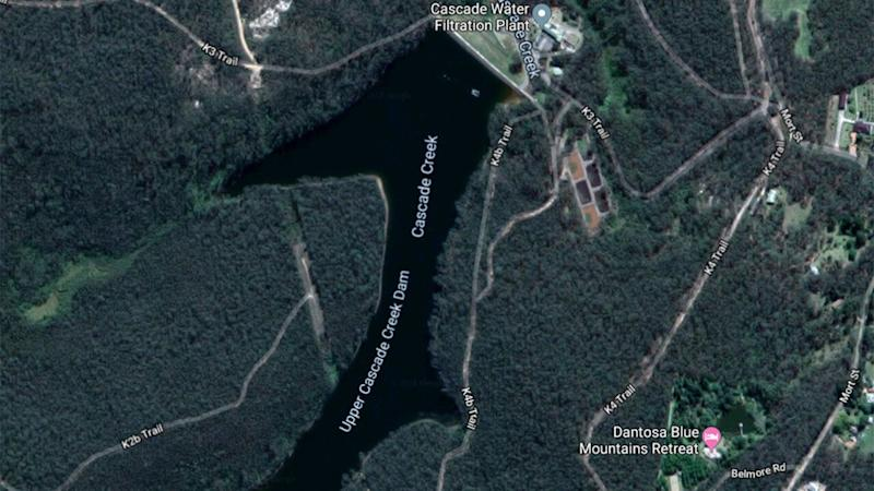 Upper Cascade Dam near Katoomba where Cecilia Devine's body was found. Source: Google Maps