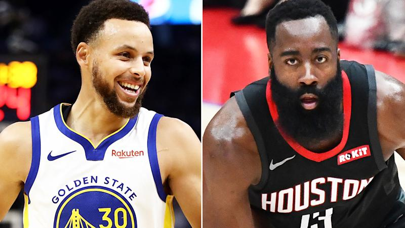 Steph Curry, pictured left, and James Harden, right, are both compelling Fantasy basketball options at guard.