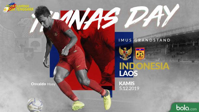 Sea Games 2019 - Sepak Bola - Indonesia Vs Laos (Bola.com/Adreanus Titus)