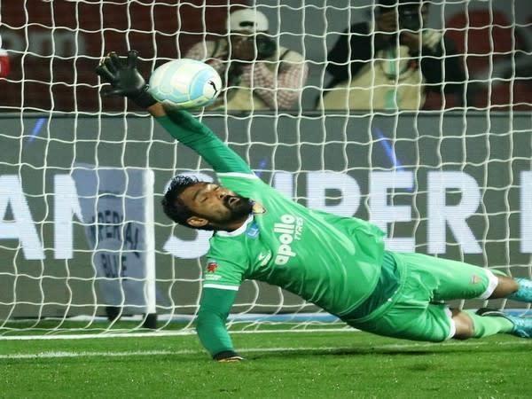 Chennaiyin FC goalkeeper Karanjit Singh (Chennaiyin FC twitter)