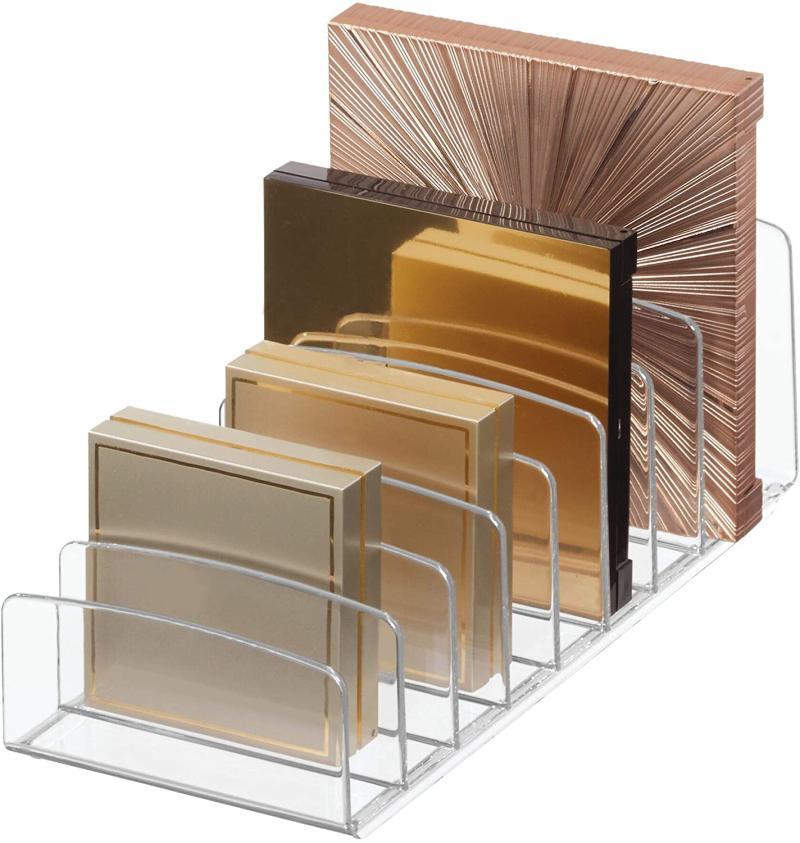 iDesign Clarity Vertical Plastic Palette Organizer. (Image via Amazon)
