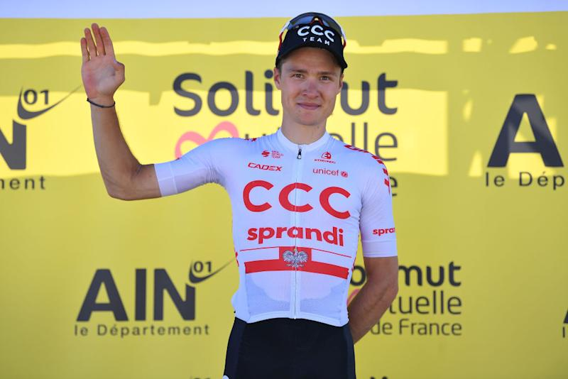 CCC Team's Michal Paluta is awarded Most Combative for stage 1 at Tour de L'Ain