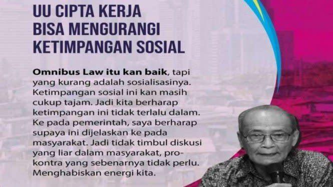 Hoax, Poster Buya Syafii Maarif Dukung Omnibus Law