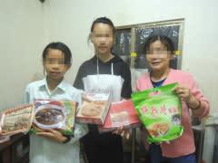 年菜與傳愛紅包為貧童帶來希望