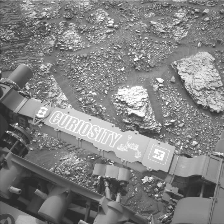 This image was taken by Left Navigation Camera onboard NASA's Mars rover Curiosity on Sol 2824.
