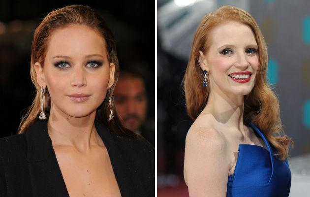 Chastain denies Jennifer Lawrence feud