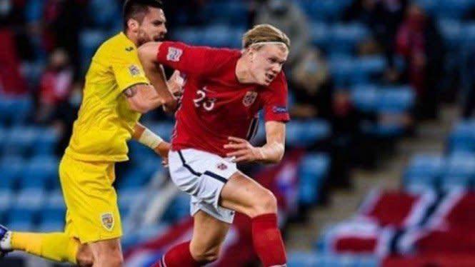Erling Haaland Menggila, Jadi Raja Gol Sementara UEFA Nations League