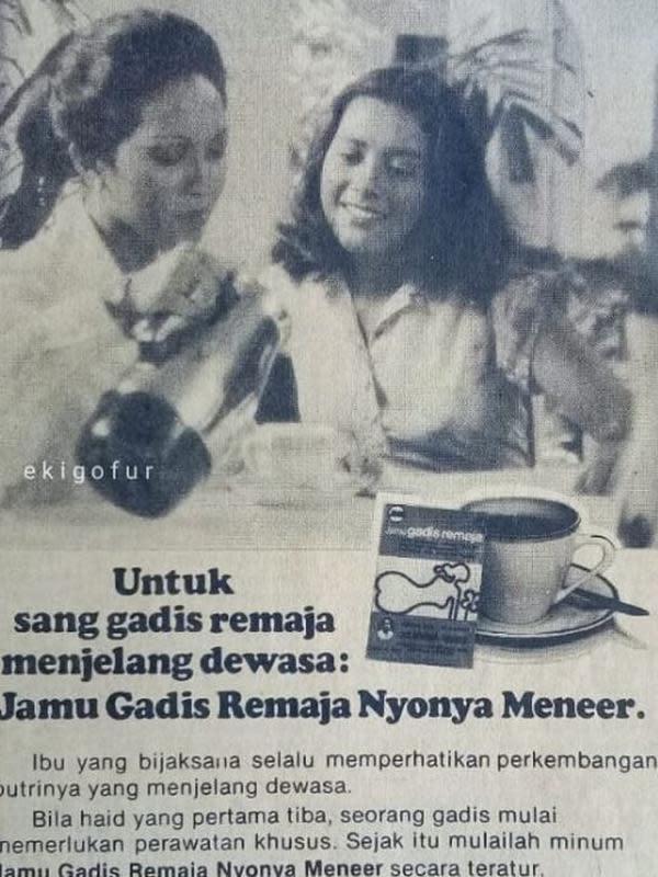 Potret Lawas Lydia Kandou Saat Jadi Bintang Iklan Jadul. (Sumber: Instagram/ekigofur)