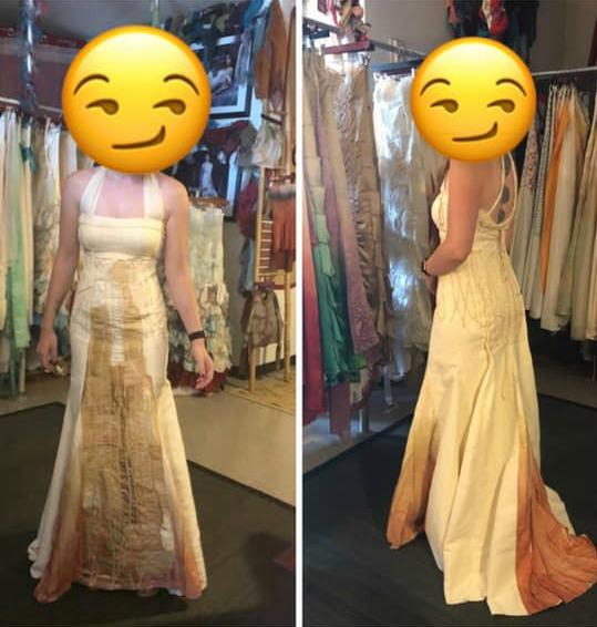 A bride's choice of wedding dress has been a divisive one to say the least. Photo: Facebook/that's it i'm wedding shaming