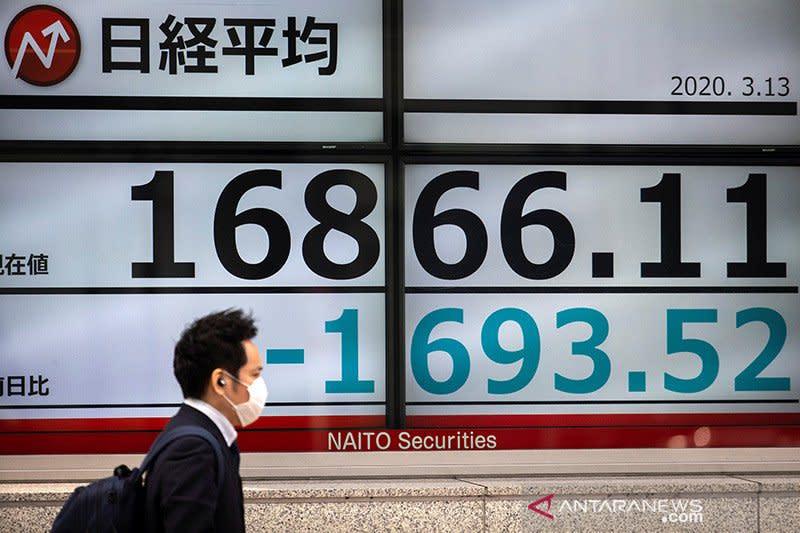 Saham Tokyo ditutup sedikit menguat setelah apresiasi yen terhenti