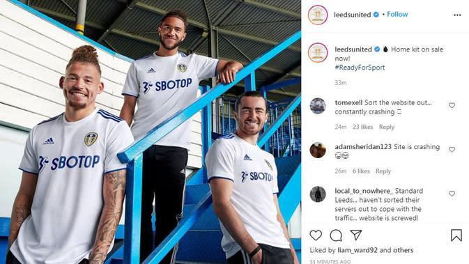Seragam Leeds United. (Instagram)